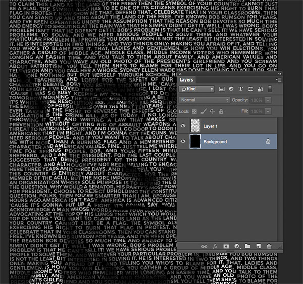 Как сделать картинку из текста в фотошоп