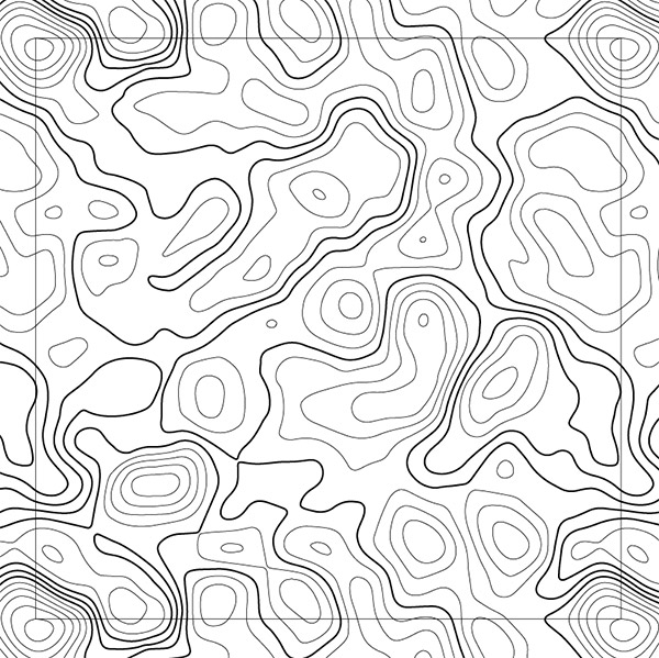 Drawing Lines In Illustrator : How to create a seamless topographic map pattern