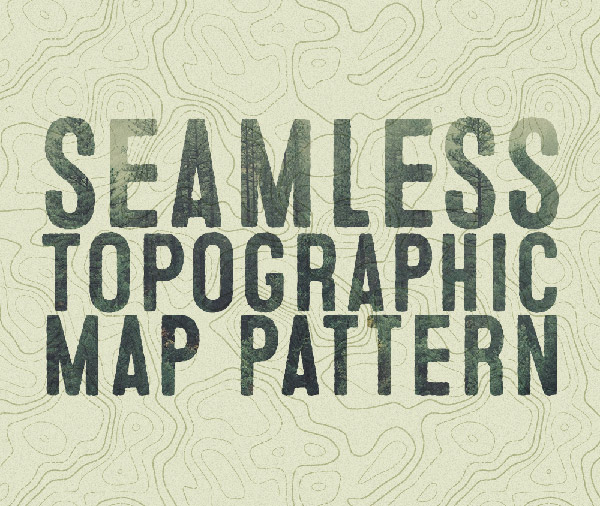 Seamless Topographic Map Pattern