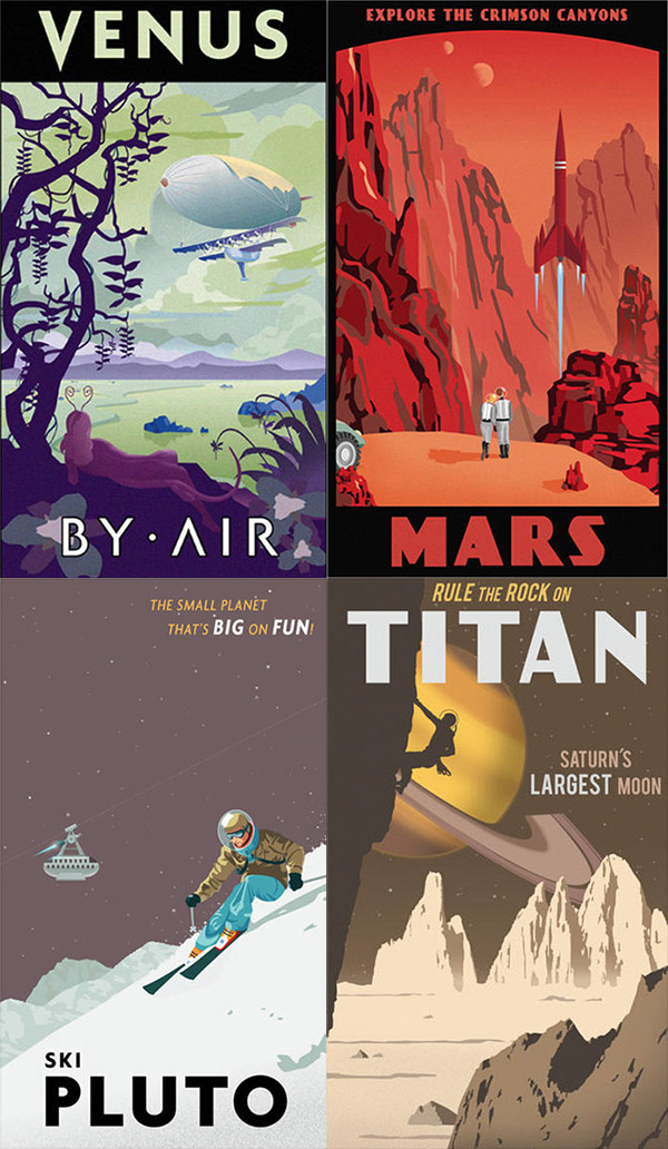 Space Travel posters by Steve Thomas