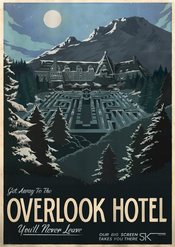 Overlook Hotel Travel Poster by MUTI