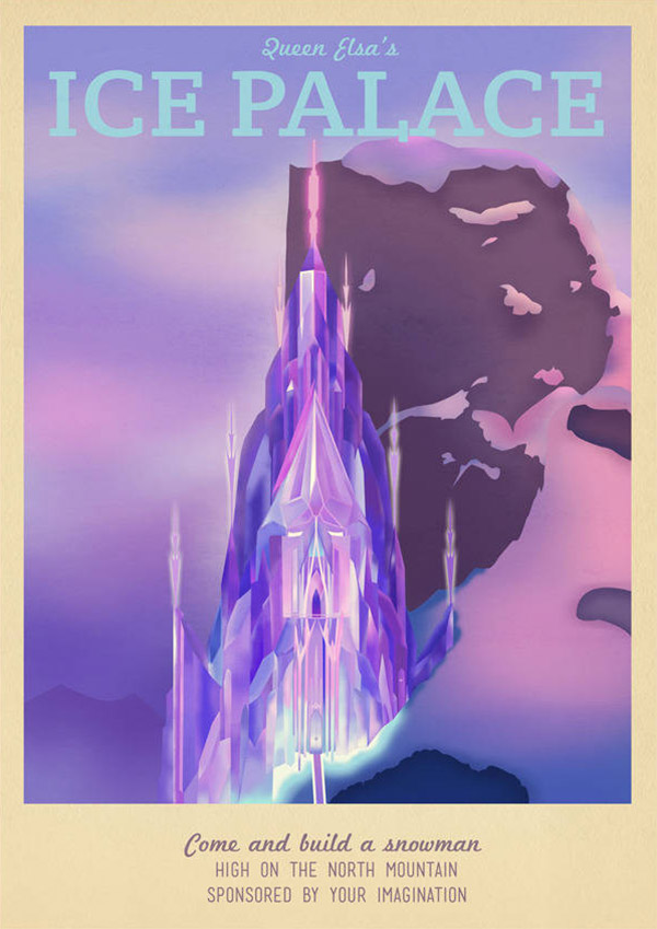Elsa's Palace Disney Travel Poster by TeacupPiranha