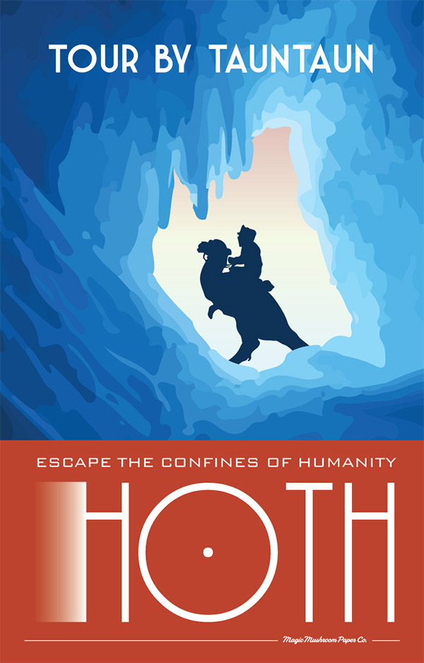 Hoth Star Wars Travel Poster by MMPaperCo