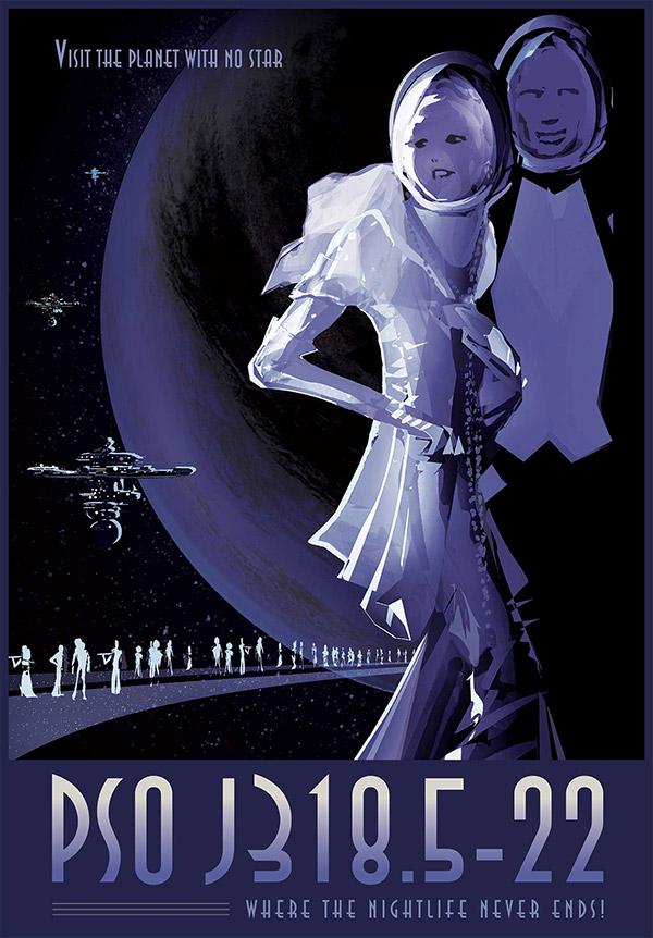 PSO J318.5-22 Exoplanet Travel Bureau by NASA