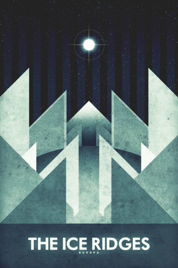 Europa - The Ice Ridges by Ron Guyatt