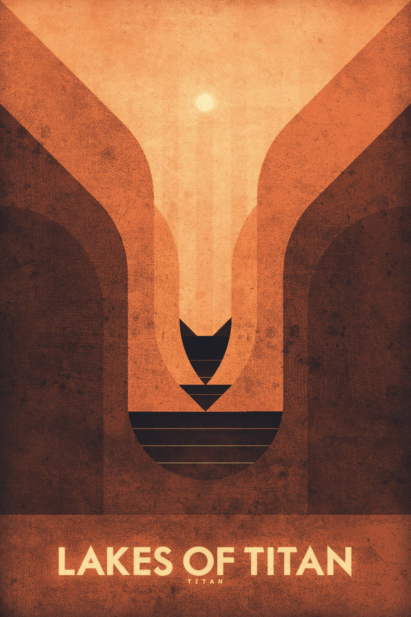 Titan - Lakes of Titna by Ron Guyatt