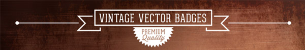 16 Vintage Vector Badges for Access All Areas Members