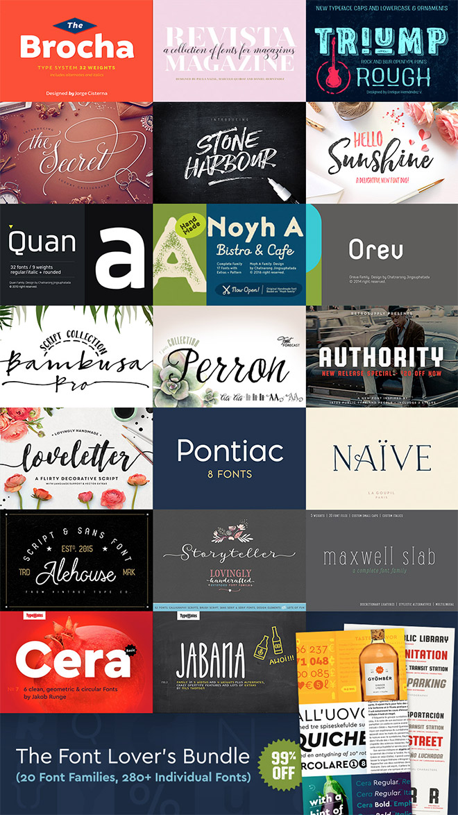 the font lovers bundle