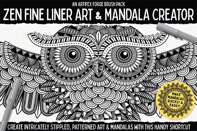 Zen Fine Liner and Mandala Creator