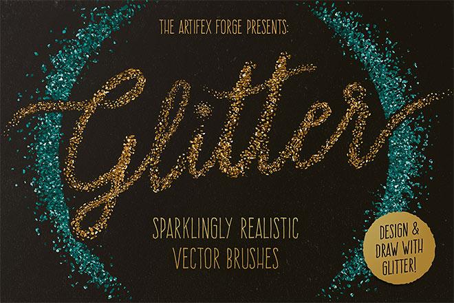 Glitter Brushes