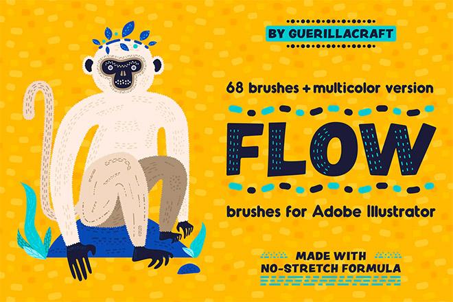 Flow Brushes for Adobe Illustrator
