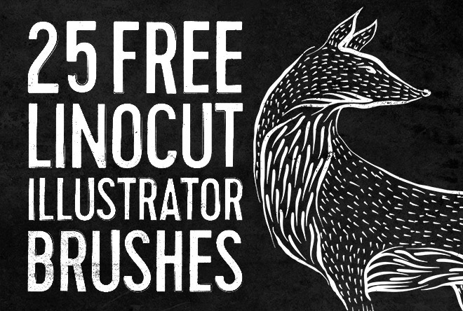 25 Free Linocut & Woodcut Brushes for Adobe Illustrator