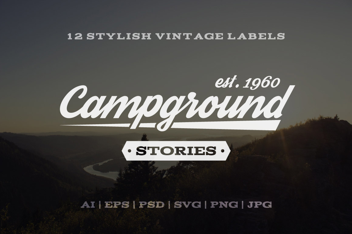 12 Vintage Outdoors Labels and Logos