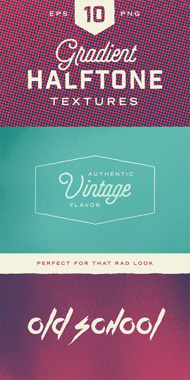 Gradient Halftone Textures