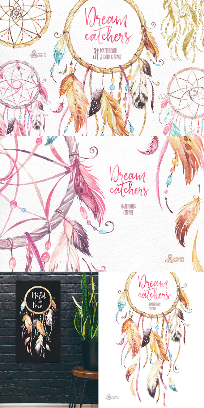 Dreamcatchers Watercolor Collection