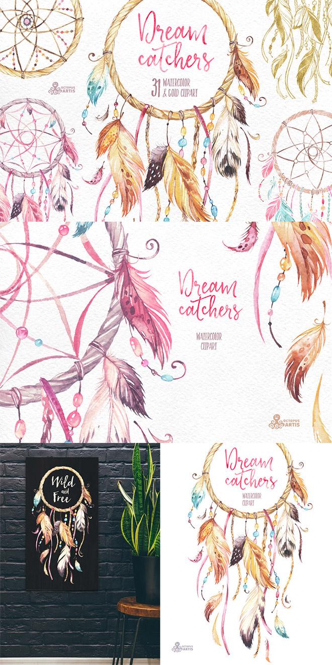 Dreamcatchers Watercolor Collection