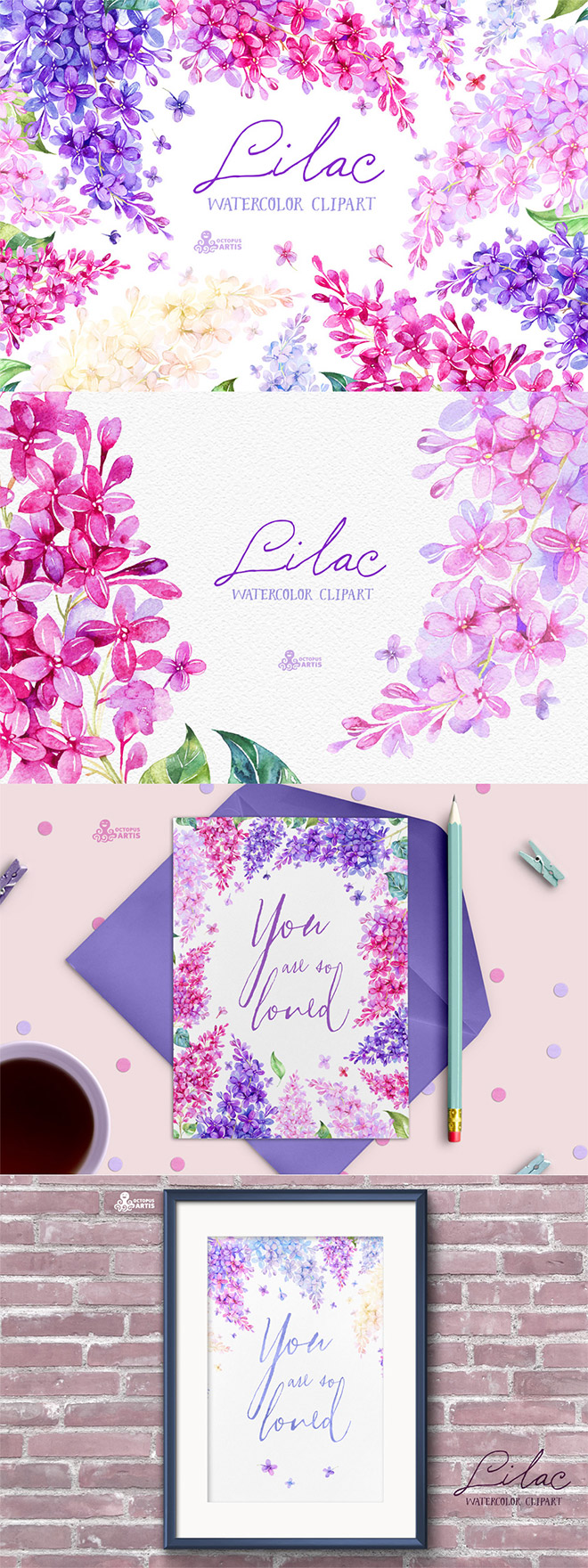 Lilac Watercolor Collection