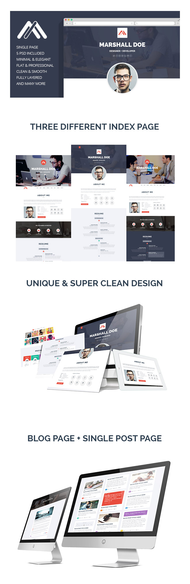 MD Resume PSD Template