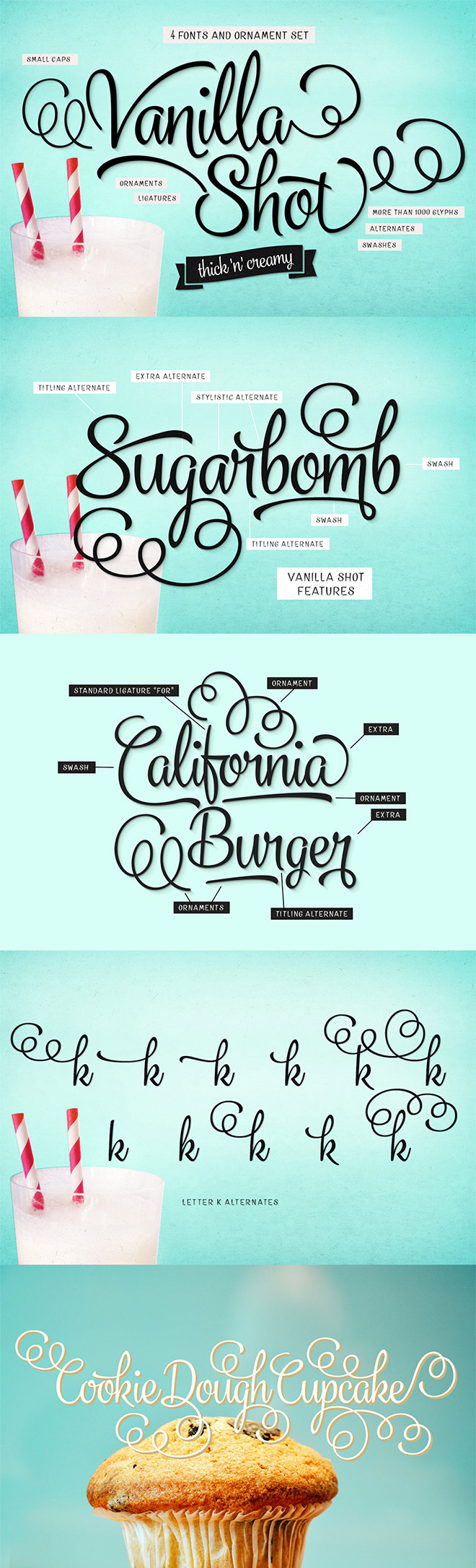 Professional Grade Font Families With  Fonts For Just