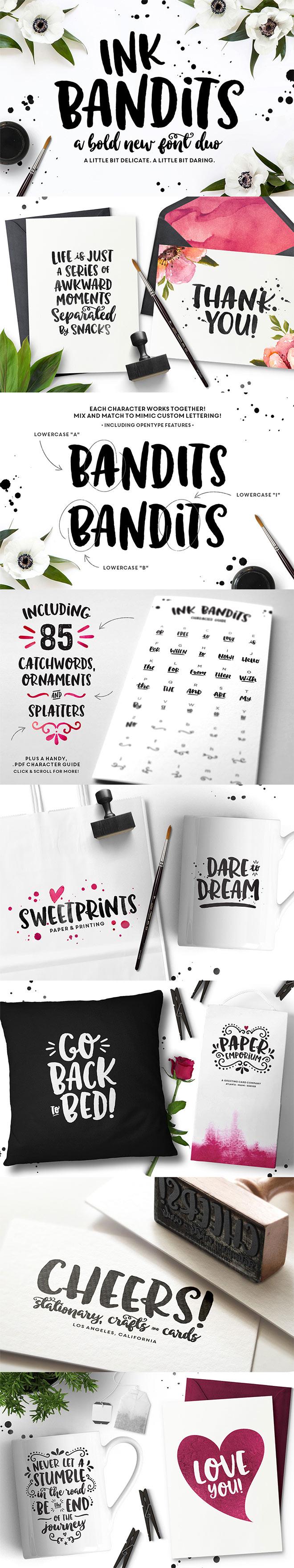 Ink Bandits Font Duo