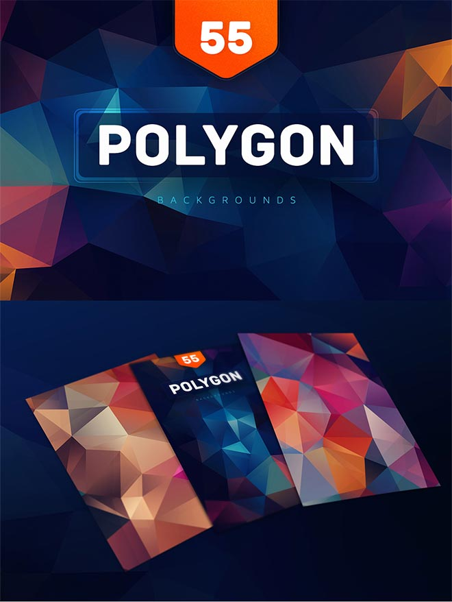 55+ Polygon Colorful Backgrounds