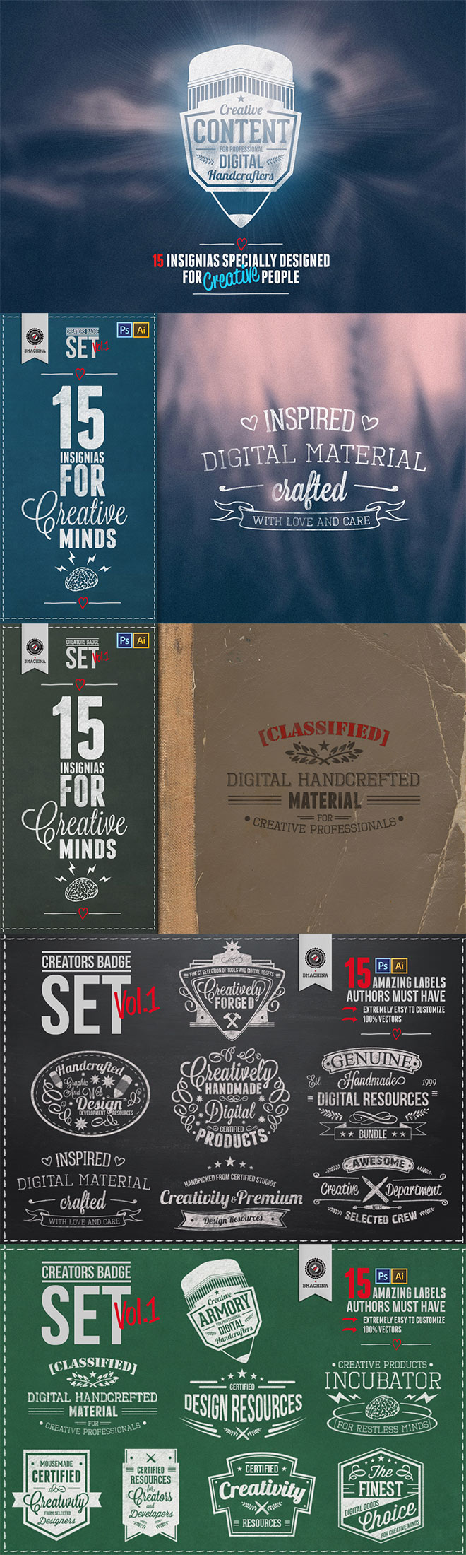 15 Editable Logo & Badge Templates