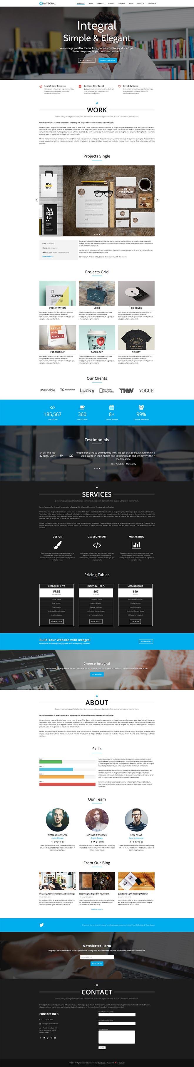Integral Pro WordPress Theme