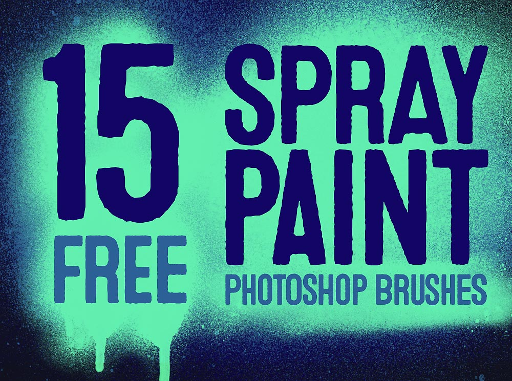 20 Free Spray Paint Photoshop Brushes with Splatters & Drips