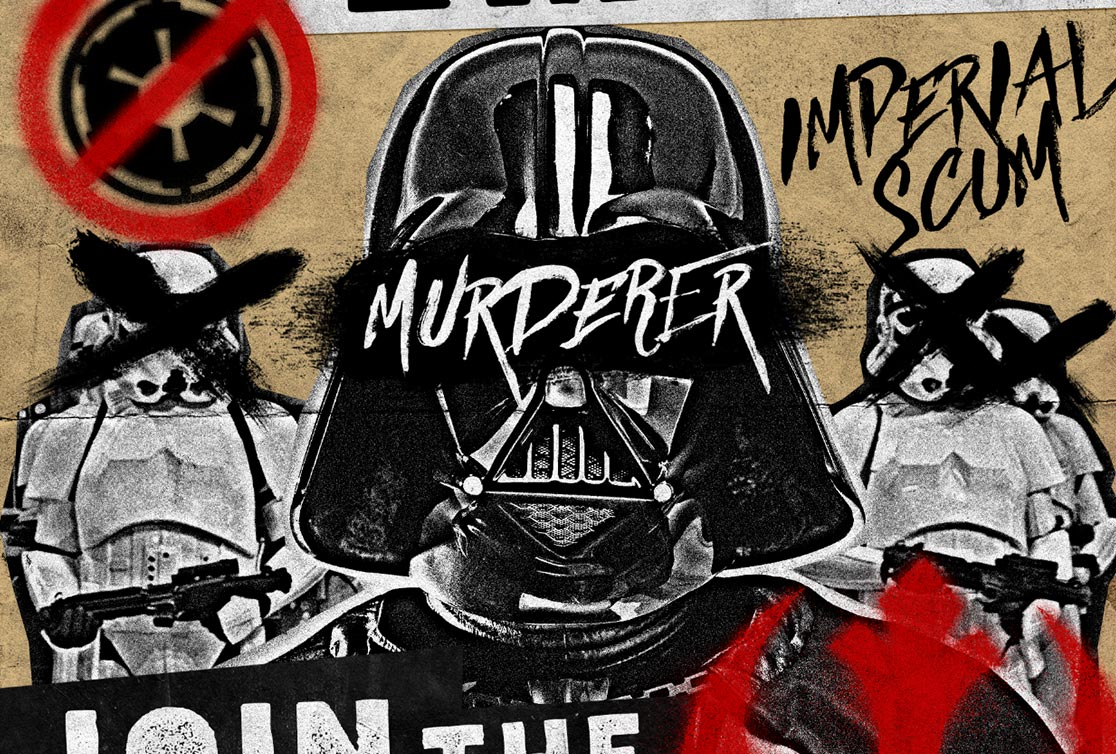 How To Create A Grungy Star Wars Propaganda Poster In