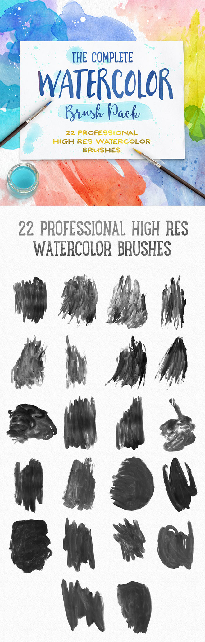 Complete Watercolor Brush Pack