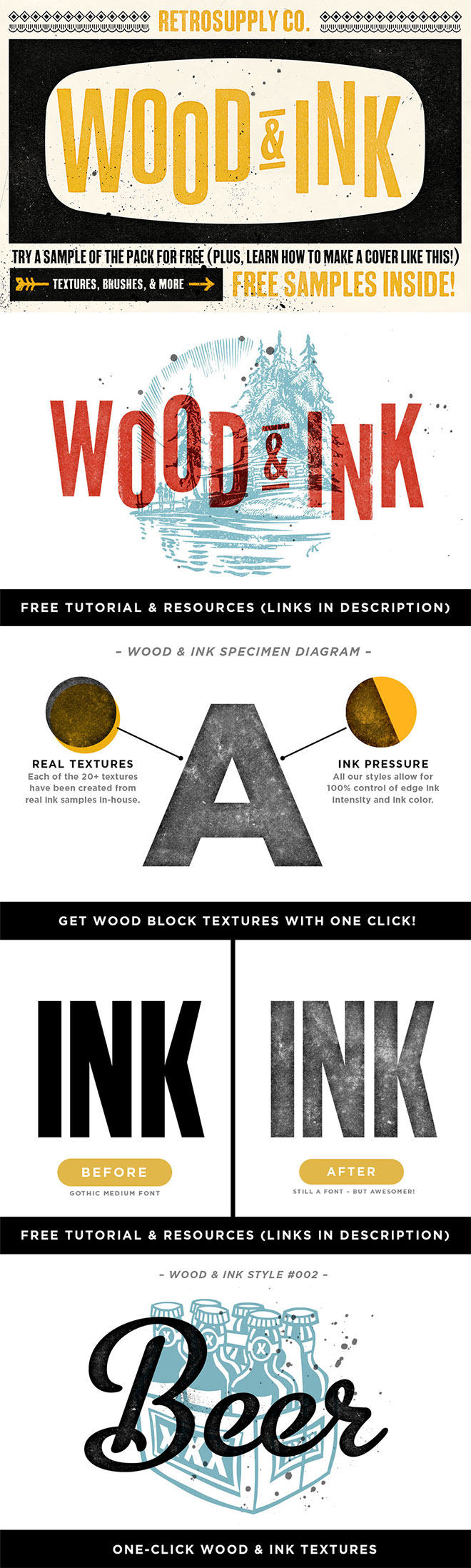 Wood and Ink Texture Pack