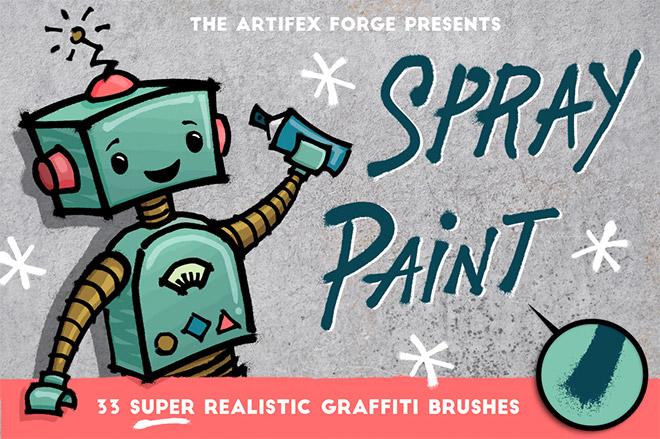 Spray Paint Illustrator Brushes