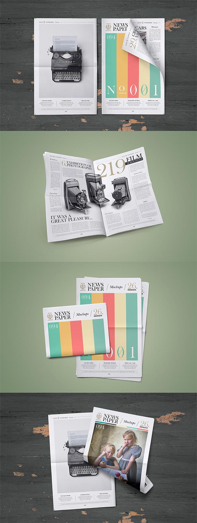 Newspaper Mock-Up Set
