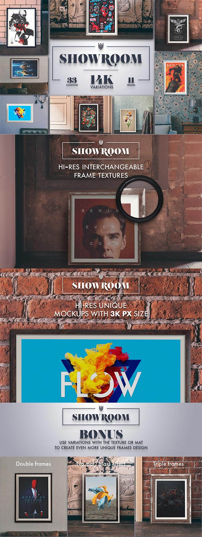 Showroom – Frames Mockups