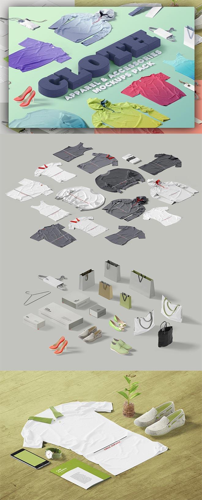 Cloth, Apparel & Accessories Mockups