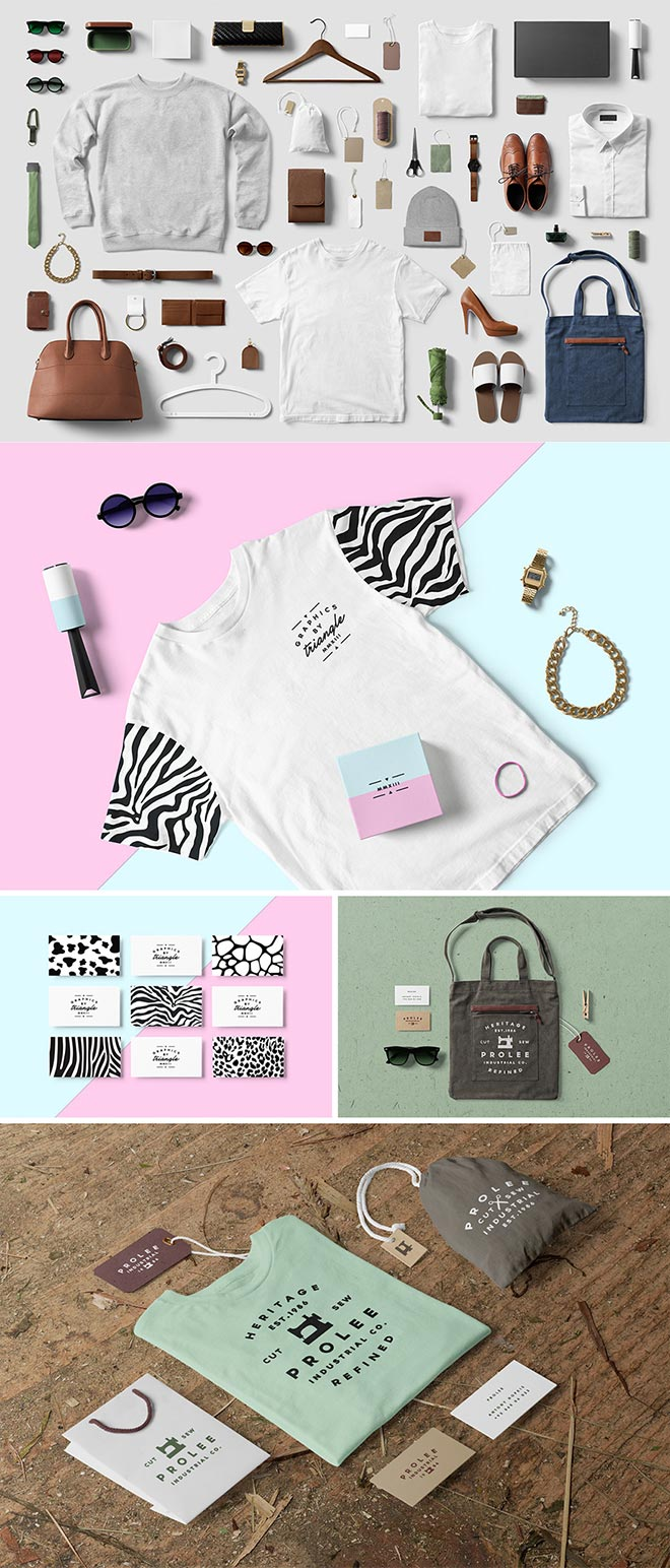 Clothing, Fashion, T-Shirt Mockup