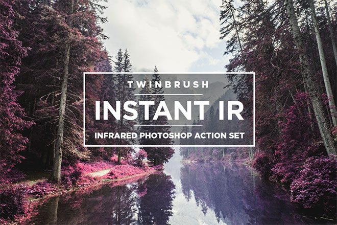 IR Infrared Photoshop Action Set