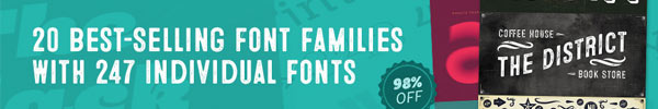 20 Best-Selling Font Families With 247 Individual Fonts