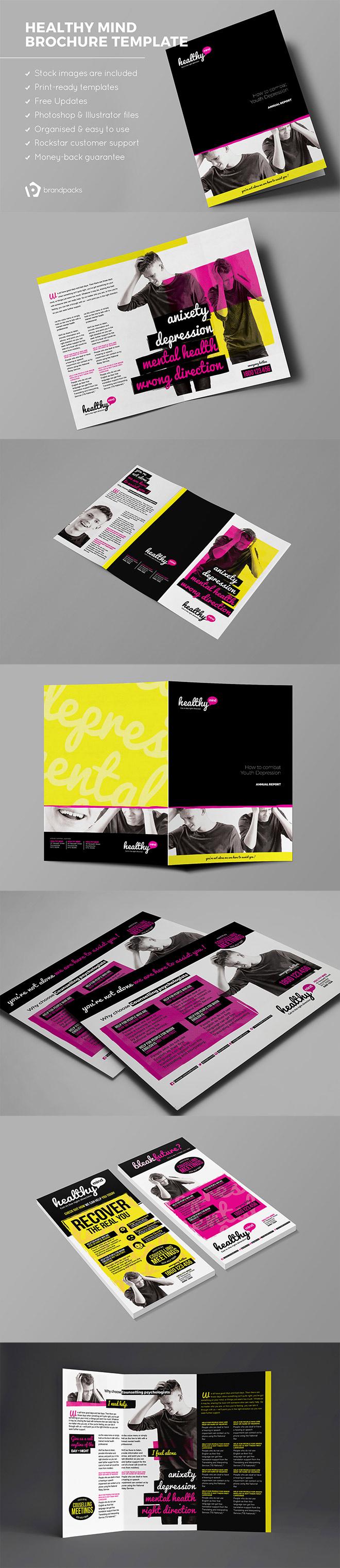 Healthy Mind Brochure Template Pack