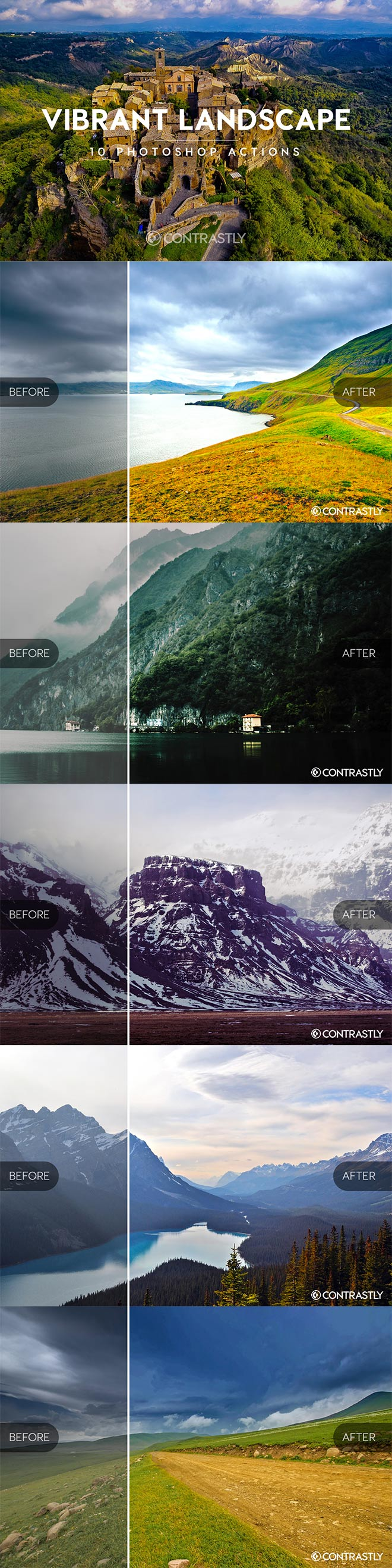 Vibrant Landscapes Photoshop Actions