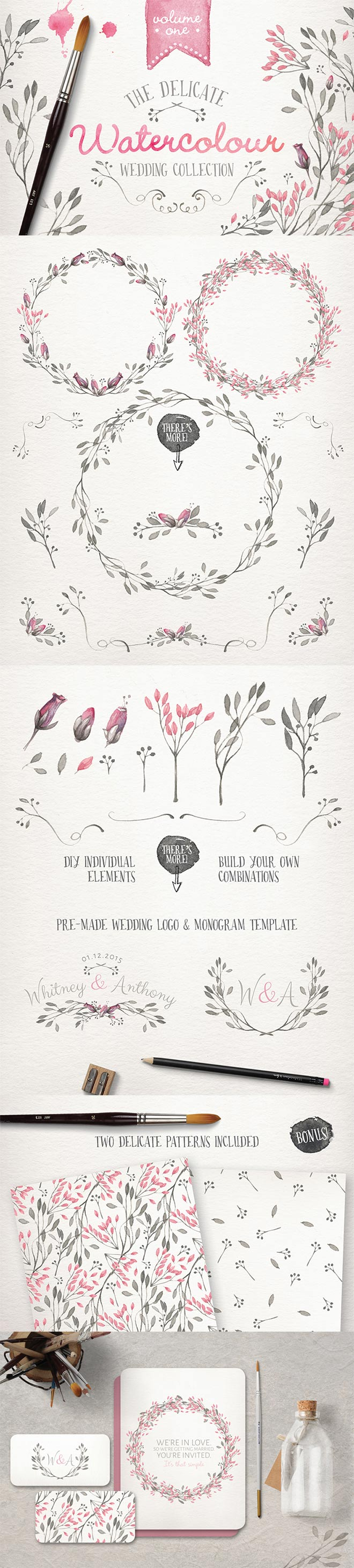 Watercolor Wedding Collection