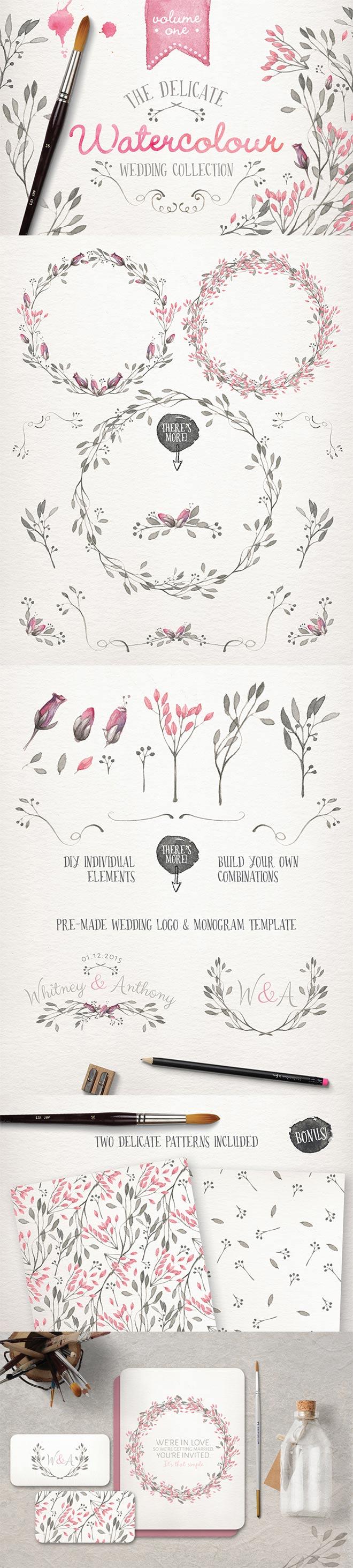 Watercolor Wedding Collection