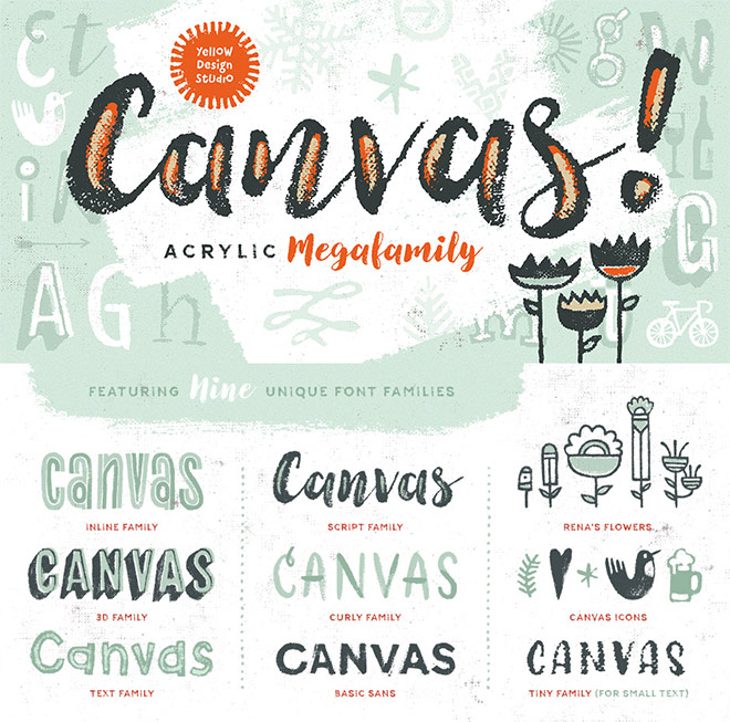 Canvas Complete Font Family