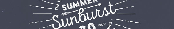 30 Summer Sunburst Vector Graphics for Premium Members