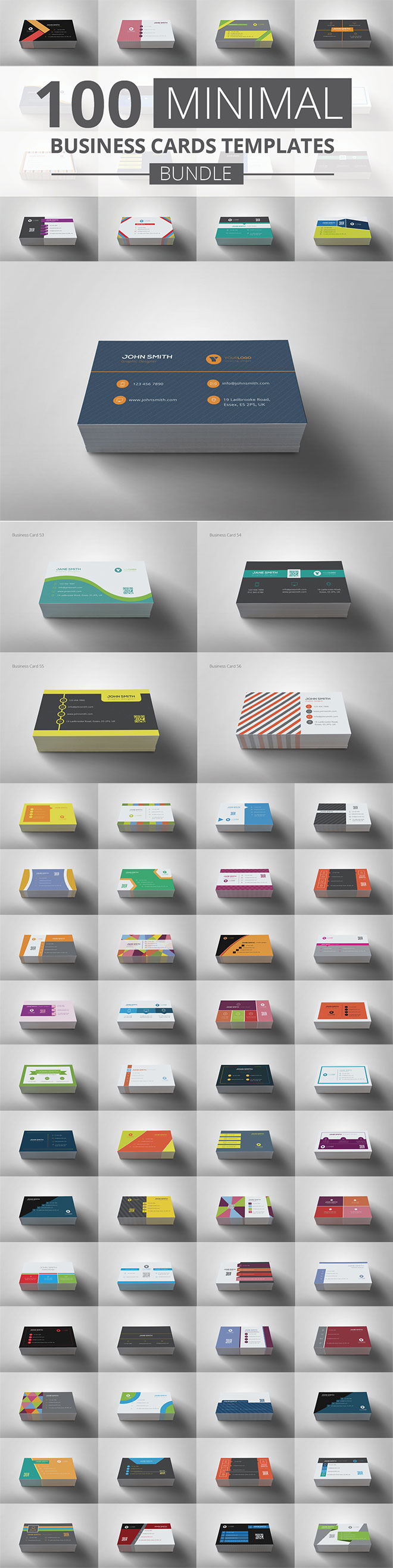 100 Business Card Templates
