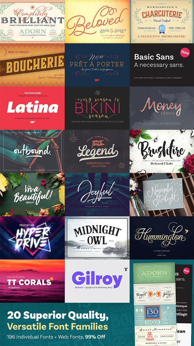 20 Superior Quality, Versatile Font Families