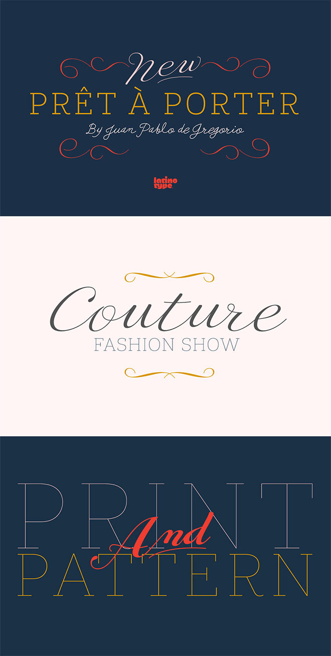 20 superior quality fonts with a huge 99 discount for for Pret a porter uk