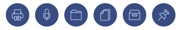 User Interface Outline Icons for Access All Areas Members