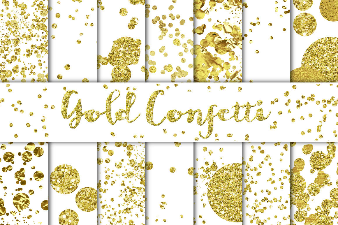 gold confetti overlays backgrounds for premium members