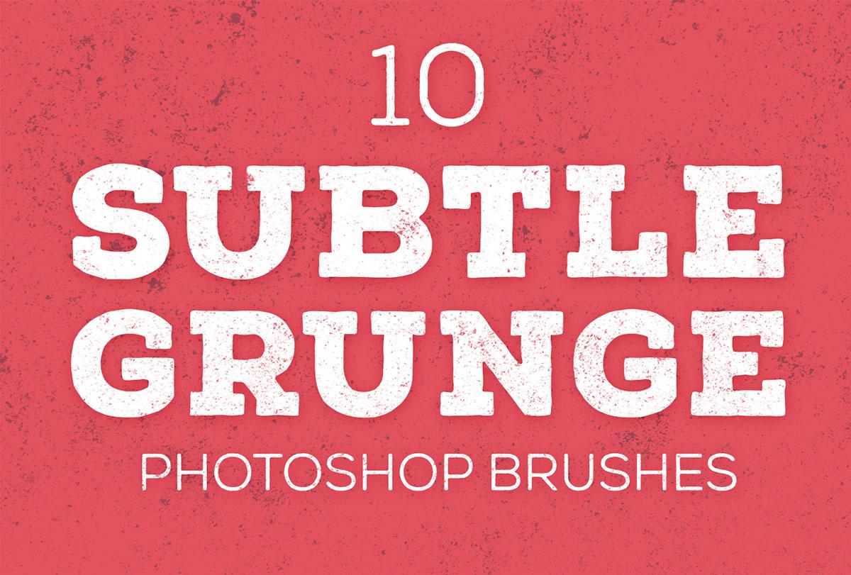 10 Free Subtle Grunge Texture Brushes for Adobe Photoshop